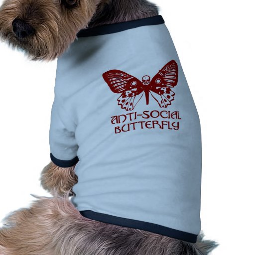 Anti-Social Butterfly Pet Clothing