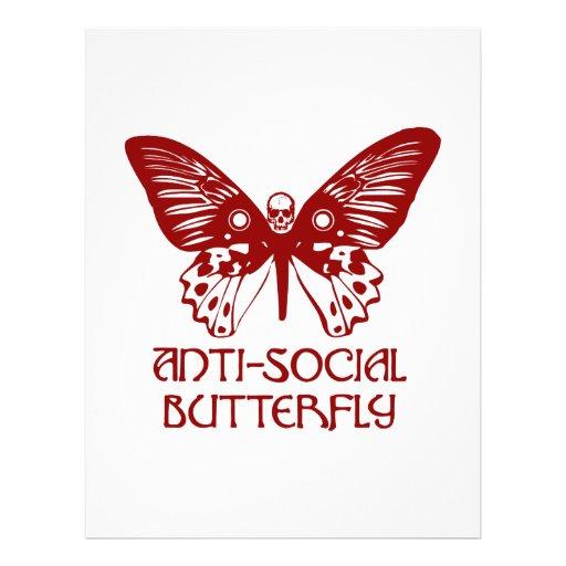 Anti-Social Butterfly Custom Flyer