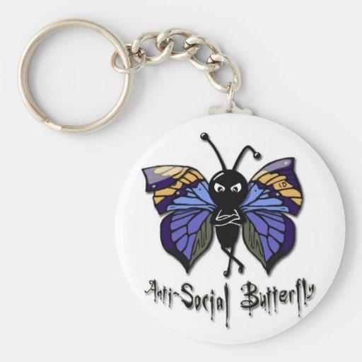 'Anti-Social Butterfly' Keychain