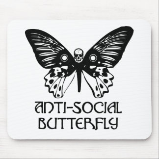 Anti-Social Butterfly Mouse Pad