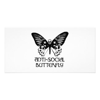 Anti-Social Butterfly Customized Photo Card