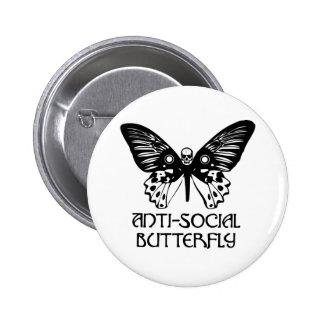 Anti-Social Butterfly Pin