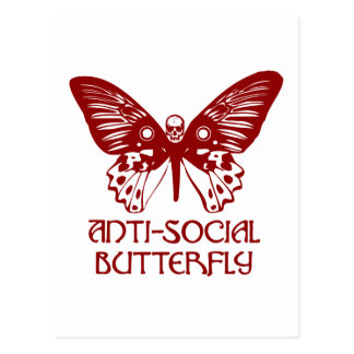 Anti-Social Butterfly Post Cards