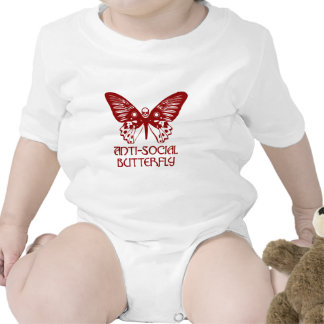 Anti-Social Butterfly Baby Bodysuit