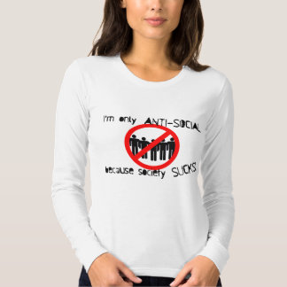 Anti-Social Ladies Long Sleeve (Fitted) Shirt
