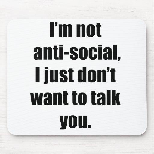 Anti-Social Mouse Mat