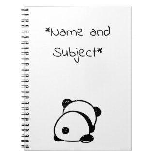 Anti-Social Panda Bear Notebook