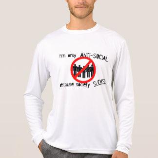 Anti-Social Performance Micro-Fiber Long Sleeve T Shirts