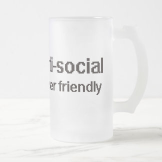 Anti-Social Techie Geek Frosted Glass Mug