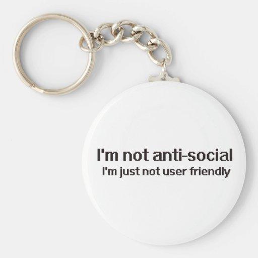 Anti-Social Techie Geek Keychains