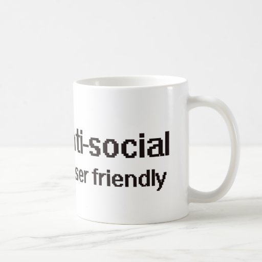 Anti-Social Techie Geek Mugs