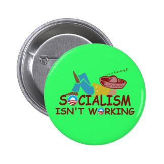 Anti socialism 6 cm round badge