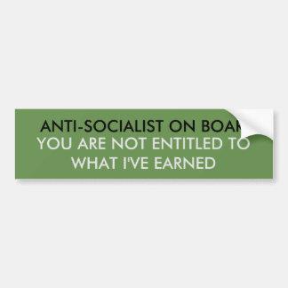 ANTI-SOCIALISM BUMPER STICKER