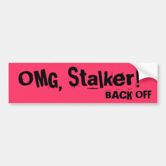 Anti Tailgater: STALKER bumper sticker