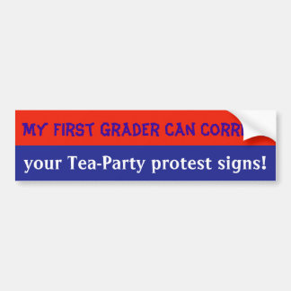 anti-Tea Party bumpersticker Bumper Sticker