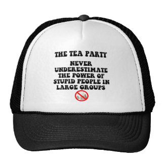 Anti tea party trucker hats