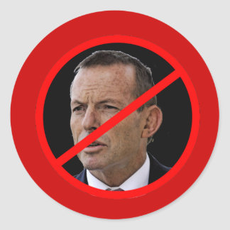 Anti Tony Abbott Round Sticker