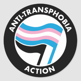 Anti-Transphobia Antifa Sticker