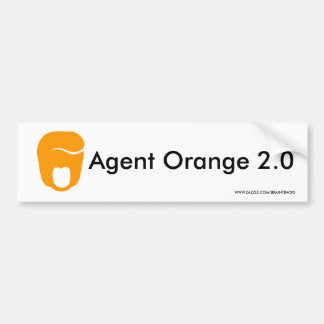 Anti-Trump Agent Orange 2.0 Bumper Sticker