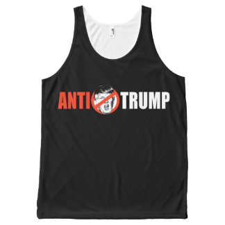 ANTI-TRUMP BANNER - white - - .png All-Over Print Tank Top