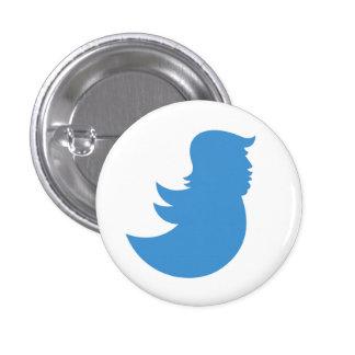 Anti-Trump Button: Trump Tweets Like A Twit 3 Cm Round Badge