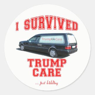 Anti Trump Care Sticker   I Survived Trump Care