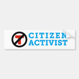 Anti-Trump Citizen Activist Bumper Sticker