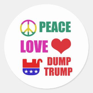 Anti Trump democrat designs Classic Round Sticker