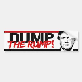 Anti-Trump - Dump the Rump - Bumper Sticker
