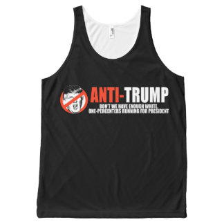 ANTI-TRUMP - Enough white one-percenters running f All-Over Print Tank Top