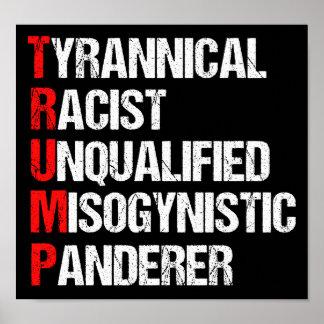 Anti Trump Funny Acronym Poster