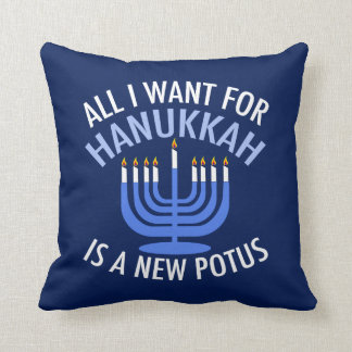 Anti Trump Hanukkah Cushion