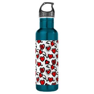 Anti-Valentine Sketch Pattern 710 Ml Water Bottle
