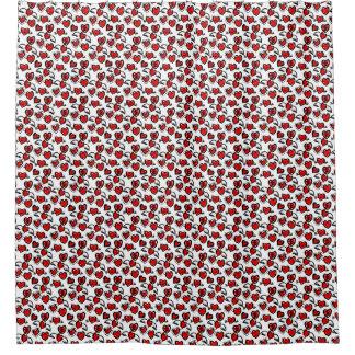 Anti-Valentine Sketch Pattern Shower Curtain