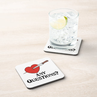 Anti Valentine's Day Beverage Coaster