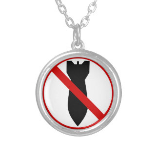 Anti War Silver Plated Necklace