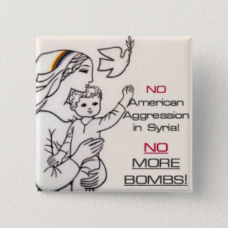 Anti-war Syria button