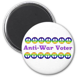 Anti-War Voter 6 Cm Round Magnet
