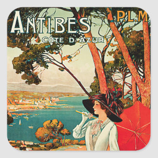 Antibes ~ Cote D'Azur Square Sticker