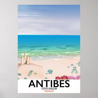 Antibes France Beach poster