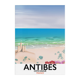 Antibes France Beach poster Acrylic Wall Art