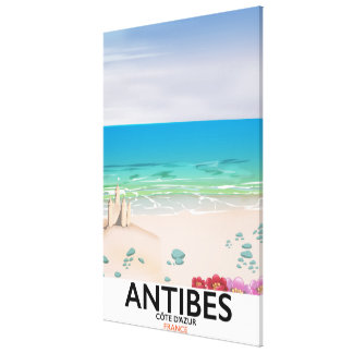Antibes France Beach poster Canvas Print