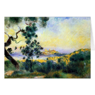 Antibes France Renoir Landscape Painting Card