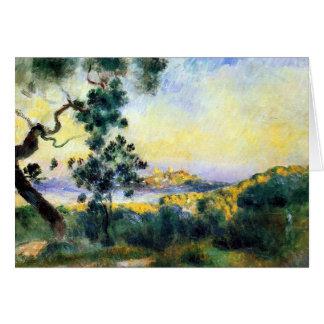 Antibes France Renoir Landscape Painting Card