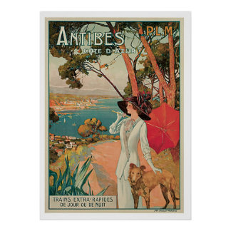 Antibes France Vintage Travel Poster