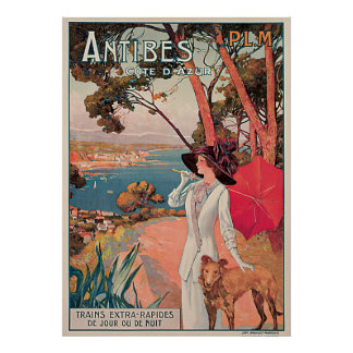 Antibes, France Vintage Travel Poster