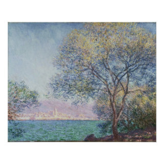 Antibes in the Morning, Claude Monet, 1888 Poster