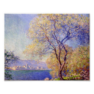 Antibes seen from the Salis Garden - Claude Monet Poster