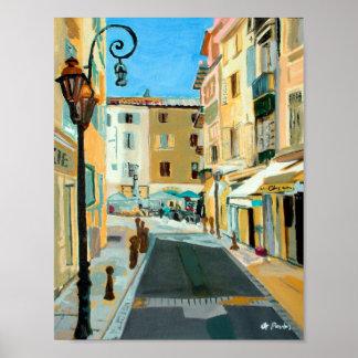 Antibes Street Scene Poster