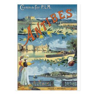 Antibes Vintage Travel Poster Postcard
